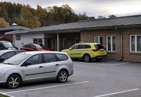 PÅGANG: Det har vært stor pågang ved legevakta i Notodden i jula, og mye skyldes forkjølelse.