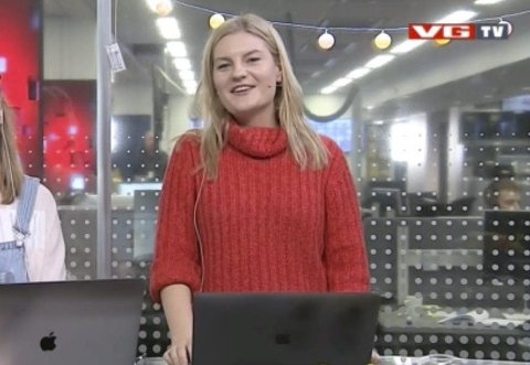 Fikk sjansen: Notoddenjenta Anne Bjørg Vaa (26) fikk forsøke seg som programvert i VGTV i påsken. Noe som ga mersmak.
