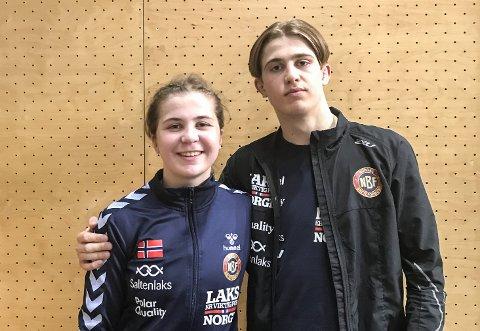 GULLSØSKEN: Både Anne Svarstad og Sondre Svarstad vant gull i nordisk mesterskap i bryting i kveld.