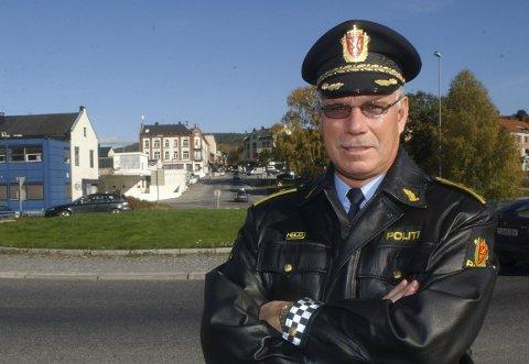 SKAL DRØFTES: Politistasjonssjef Helge Folserås vil drøfte saken med politikerne og anbefaler nattestengt sentrum.