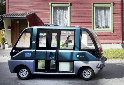 Ingen bussjåfør: I Trondheim ble det i 2009 testet førerløse bykjøretøy. Foto: NTB scanpix