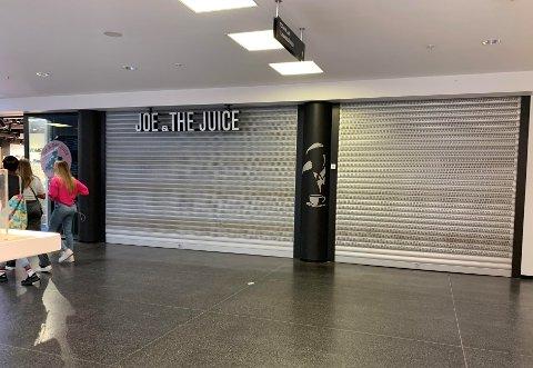 STENGT: Gitterne er nede på Joe & The Juice på Farmandstredet .