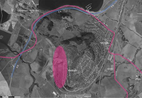 NY PLAN: Dette området på Skogn er nå regulert til bolig.