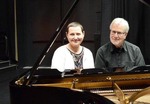 TCHAIKOVSKY OG SCHUBERT: De har hver sin favorittkomponist, men opptrer sammen på mandag,  Anna K. Sandvik og Ove Nyvik.