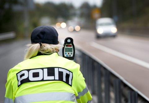 TO BLE FOTGJENGERE: Det var blant resultatene etter at politiet gjennomførte fartskontroll i Vestbyveien onsdag kveld.