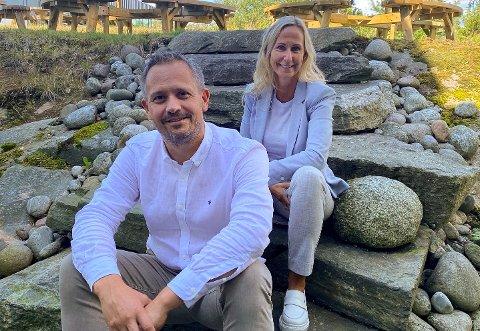 NYE OPPKJØP: Daglig leder i Abacus IT Sven Runar Nilsen og medgründer Bente Kristin Jørgensen.