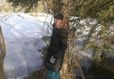 ISOLASJON: Turer i skog og mark i nærområdene til Drøbak er de eneste sprellene Kjersti Martinsen har gjort det siste året.