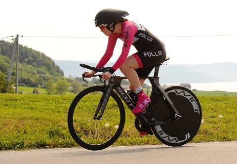I TOPPEN: Eline Skjevdal gjorde en flott figur i norgesmesterskapet på sykkel. Det ble to femteplasser på Ås-jenta.