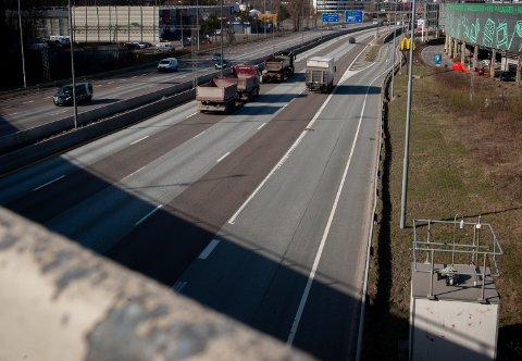 Biltrafikken er tilbake på normalt nivå. Her fra E6 på Alnabru.