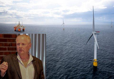 VINDKRAFT TIL HAVS: Vindkraftprosjektet Hywind Tampen er under oppbygging og fiskarlagsleiar Jarl Magne Silden skuldar styresmaktene for å vere lite lydhøyre overfor fiskarane sine krav til sameksistens.