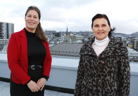 Fylkesråd Linda helen Haukland og fungerende regiondirektør i Innovasjon Norge Nordland, Bjørg H. Jenssen.