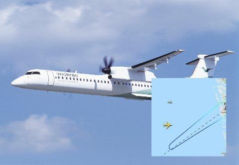 Widerøes fly til Aberdeen gjorde vendereis på mandag.
