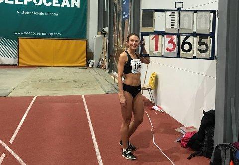 Oda Utsi Onstad (Norna-Salhus) satte norsk rekord innendørs i NM i Haugesund