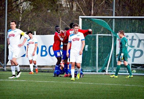 UTE AV NM: Truls Garmo Johansen og Drammen FK gjorde en god andreomgang mot Skeid, men slapp inn tre mål før hvilen.