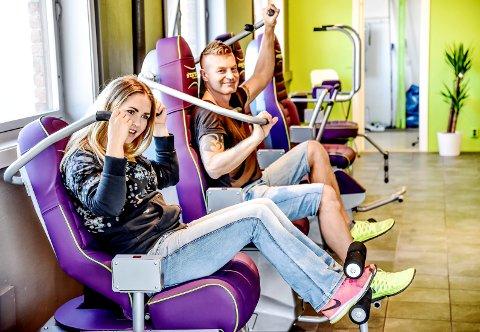 LAGT NED: Karoline Madsen Dahl og Espen Lund startet treningsstudioet Feelgood på Åssiden i 2016. Nå har de lagt ned treningsstudioet, koronapandemien og nedstengingen av samfunnet ble for tøff. Her fra åpningen.