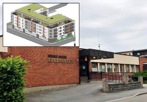 RIVER: Nedre Eiker legekontor skal rives og en 5. etasje bygning skal reise seg.