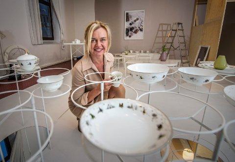 POPULÆRT: Wik & Walsøe-gründer Linda Svedal Walsøe selger porselen for flerfoldige millioner i året. Her fotografert i 2017 før en stor messe i Frankfurt.