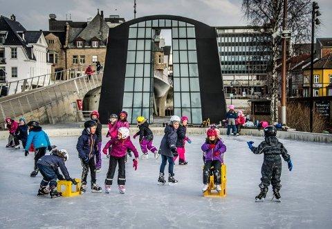 Fredrikstad har for lengst fått sin kunstisbane  tett på sentrum.  Nå prøver politiker Lars Egil Lande  å få til noe lignende på Asmaløy.
