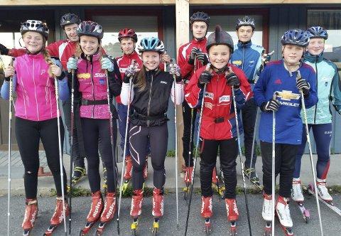 På HJUL: Naturlig nok ble det asfalt og ikke snø under skiene på samlingen. Alle foto: Bjerkvik IF.