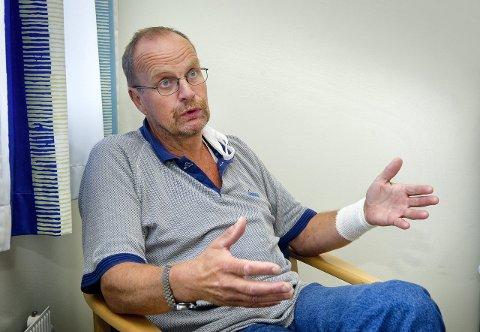 BREDSIDE: Knut Hageberg, leder i Nord-Odal Fremskrittsparti, går til kraftig angrep mot fylkeslederen i sitt eget parti, som han ønsker fjernet etter at det ikke ble valgliste. Foto: Jens Haugen (arkiv)