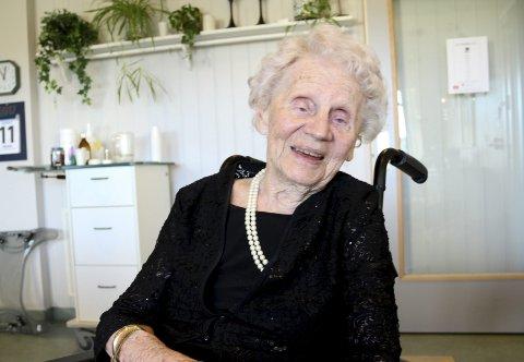 JUBILANT: Else Nilssen fyller 100 år 14. august, er i god form og med et skarpt minne.