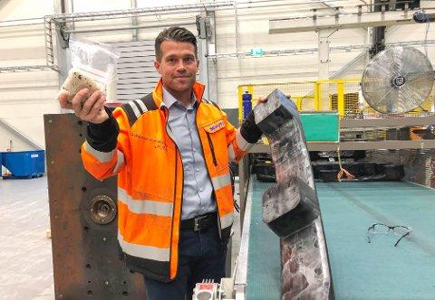TENKER GRØNT: Administrerende direktør Erik Platek ved Schütz Nordic gjenvinner plast i stor skala.