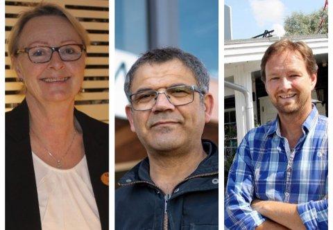 Elin Skaslien hos Skaslien Gjestgiveri, Murat Kauhan hos Castrum Spiseri og Arne Udnesseter på Sanngrund.
