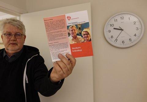 FØLG PROGRAMMET: – Partiets folk skal følge programmet de gikk til valg på. Nå gjelder det å bevise at de virkelig gjør det, sier Ap-medlem i Åsnes, Asbjørn Venberget.