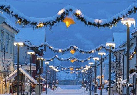 3. Julegata er oppe. Foto: Hilde Jordbruen