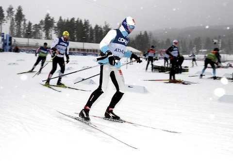 ROLIG ØKT: Thea Krokan Murud gjennomførte en rolig treningsøkt på Birkebeineren Skistadion torsdag. Fredag skal hun sprinte i verdenscupen.