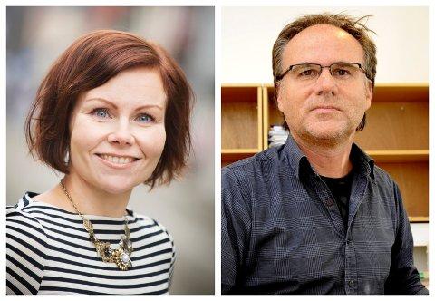Sanna Sarromaa og skolesjef i Lillehammer, Trond Johnsen, møttes onsdag kveld til debatt hos statskanalen etter at Sarromaa skrev debattinnlegget «Nei, ikke alt barna våre gjør er «fantastisk»!» i VG.