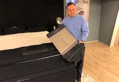 NY LEDER: Thomas Eriksen kommer fra jobb som møbelansvarlig hos Skeidar i Hønefoss. Nå skal han ta over som leder hos Skeidar i Gran.