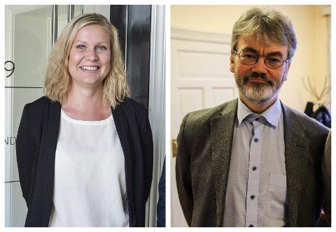 Advokatene og bostyrerne Marion Eriksrød Nordenhaug og Erik Parmer har jobbet med mange konkurser de siste årene. Nå frykter de for korona-konkurser i Halden.