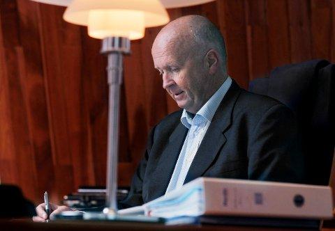 NY VENDING: Olav Lingas Haugaland Kraft var ikke å se i Haugaland tingrett mandag.