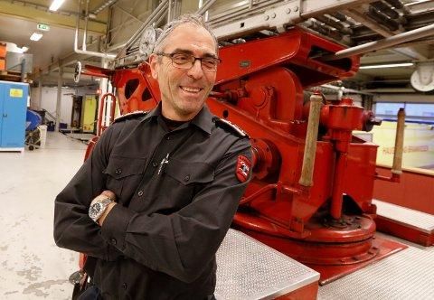 Brigadeleder Endre Haukås har jobbet i brannvesenet i 35 år.