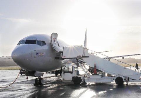 LYSPUNKT: Nå begynner de å merke positiv endring på Haugesund lufthavn.