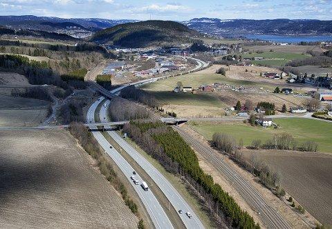 FLASKEHALS: Kobbervikdalen sør for Drammen har lenge vært en flaskehals for jernbanen. foto: ANNE METTE STORVIK