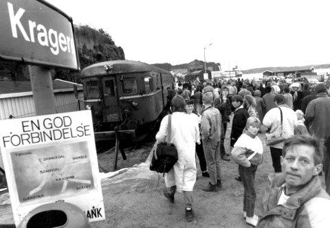 30 år siden: 31. desember 1988 gikk siste tur på Kragerøbanen.Arkivfoto: Jimmy Åsen