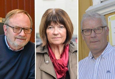 TJENTE MEST: Kultursjef Harald Bothner, kommunedirektør Inger Lysa og nå pensjonerte økonomisjef Åge Aashamar var de tre best betalte kommunalt ansatte i 2019.