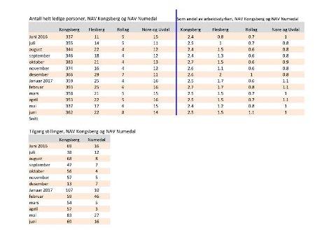 ØKNING: I Kongsberg var det registrert 37 flere ledige i juli i år sammenlignet med samme måned i fjor.