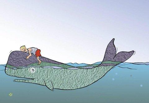 Syngende hval: «Mannen og Hvalen» av Etienne Borgers har premiere i Stamsund 27. mars. Det er en av flere forestillinger Figurteatret har på gang i løpet av 2015.
