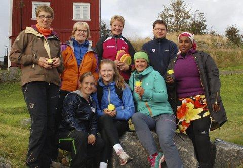 Tur- og treningskompiser: Resultatet av kurset i Vågan ble åtte nyutdannede tur- og treningskompiser fra idrettslag, friluftsliv og kommunens støttekontakttjeneste.Alle foto: Privat