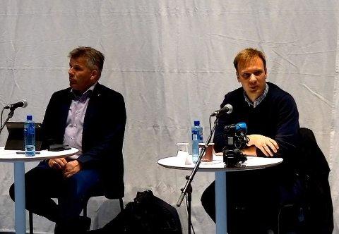 Bjørnar Skjæran (Ap) og Bård Ludvig Torhiem (H) er tilhengere av flere penger til samferdselsprosjekter i Nordland.