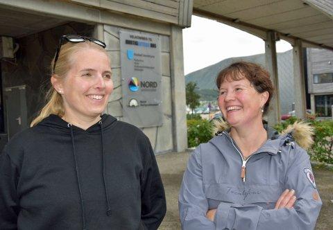 Linn Berlin Nilssen (38) og Veronica Emilie Karlsen (43) fra Lofoten er klare for å ta nett- og samlingsbasert barnehagelærerutdanning i Stokmarknes.