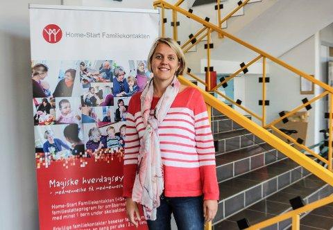 HJELPER: - Det fins familier i Rygge som ikke har råd til å dra på ferie, sier Camilla Ausen i Home-Start.