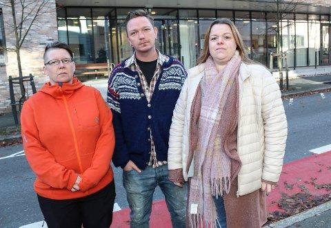 BLIR SAK: Remi Sølvberg (Rødt), Roshild Solfjell (Sp) og Irene Hetmann Landgren (Ap) (t.h.) vil be om en saksutredning om tyverier fra eldre på institusjoner i det første møtet til Helse og mestring 27. januar 2020. Bakgrunnen er serien til Moss Avis om tyverier fra eldre.