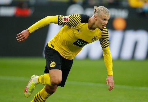 FRA START: Erling Braut Haaland og Dortmund besøker Ajax tirsdag kveld.