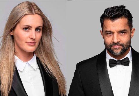 SPIONER: Chloe Friberg og Asif Sahota har lært å leve som ekte spioner.