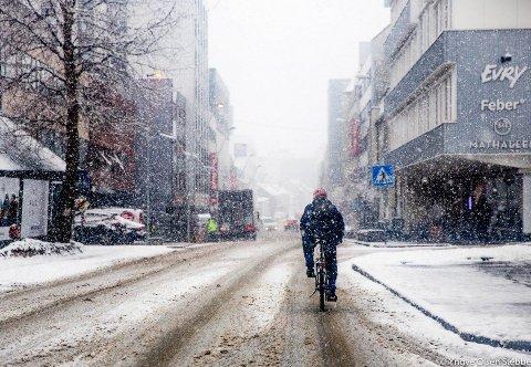 HVITT: Både søndag og mandag er det meldt snøvær. - Det vil bli hvitt over alt,  sier meteorologen