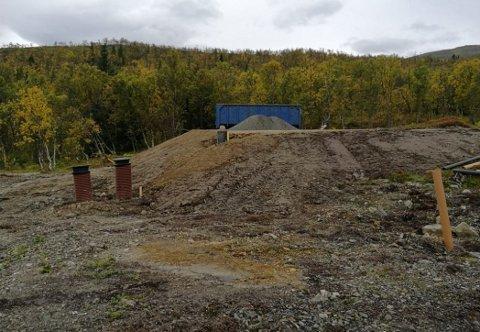 BØTELAGT: Arbeidet på Eidekollen er igangsatt uten nødvendige byggetillatelser, mener Tromsø kommune. Nå har entreprenøren fått bot.